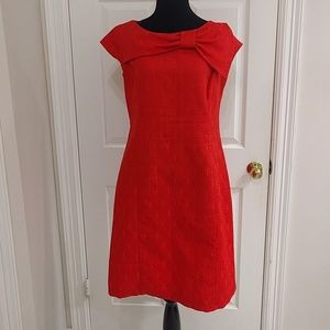 Vintage Mod 1960s Style Orange Cocktail Dress